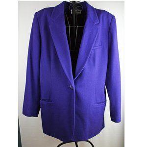 Royal Blue Wool Vintage Blazer Jacket size 12